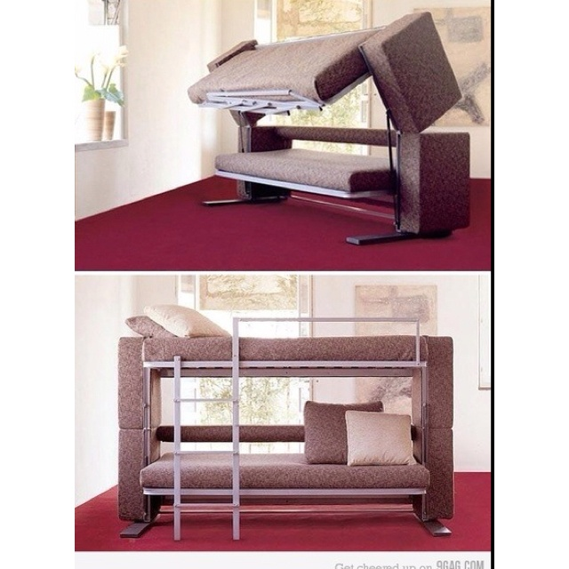 Couch Folds Out Into A Bunk Bed For The Home Pinterest