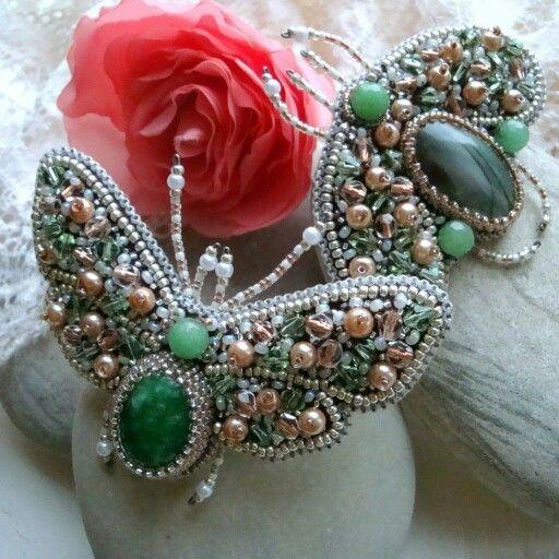 Как сделать украшения из камней и бисера