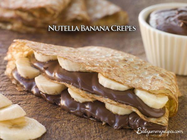 Nutella Banana Crepes – Food Recipes | Desserts | Pinterest