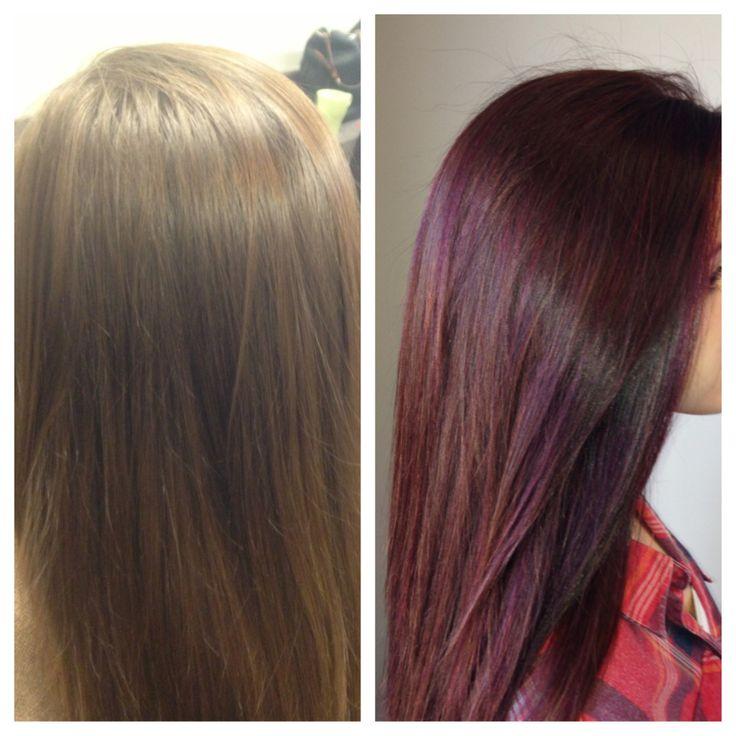 Chocolaterasberryhaircolour  Dark Brown Hairs