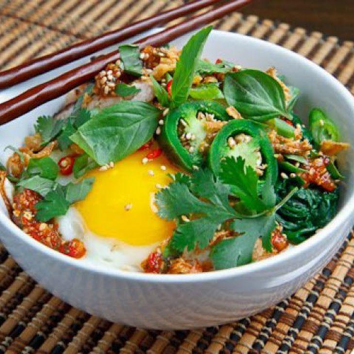 Thai sweet chili chicken rice bowl