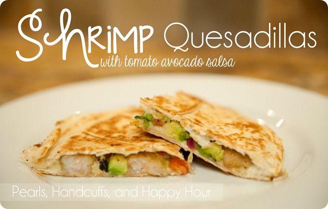 shrimp quesadillas with avacado | Recipes | Pinterest
