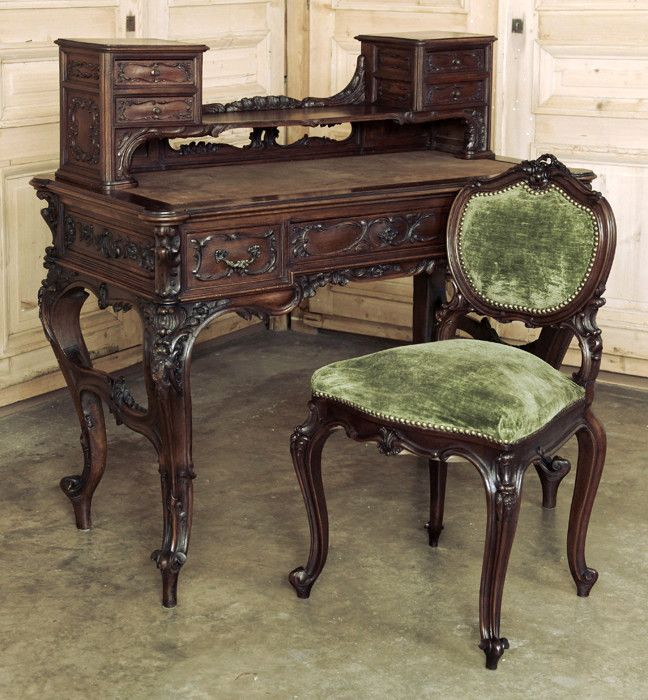 Pin by inessa stewart 39 s antiques interiors on rococo and for Antique baroque furniture