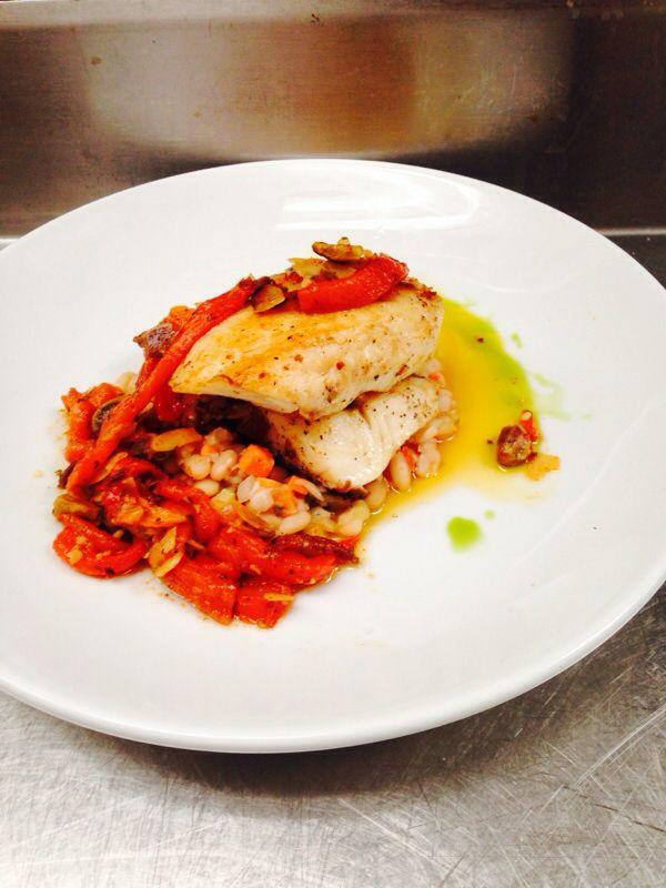 tilapia & Spanish romesco sauce | Clean Eating | Pinterest