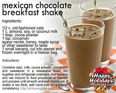 Mexican Chocolate Breakfast Shake | Beverages | Pinterest