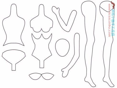 Выкройка текстильной куклы с грудью