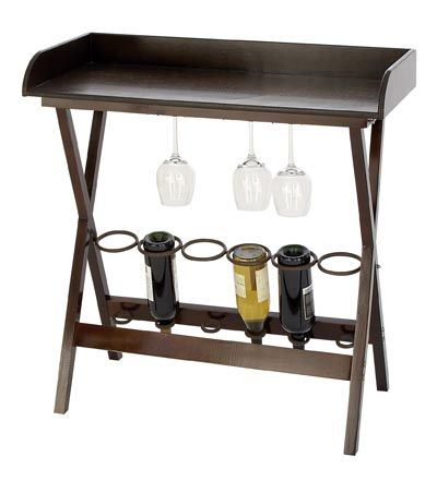 Small wine rack table bar home pinterest for Petite table bar
