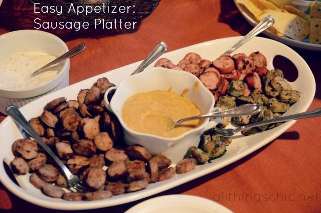 Easy appetizer sausage platter food that feeds the soul pinterest