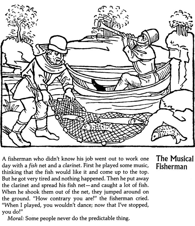 aesop fable coloring pages - photo#6