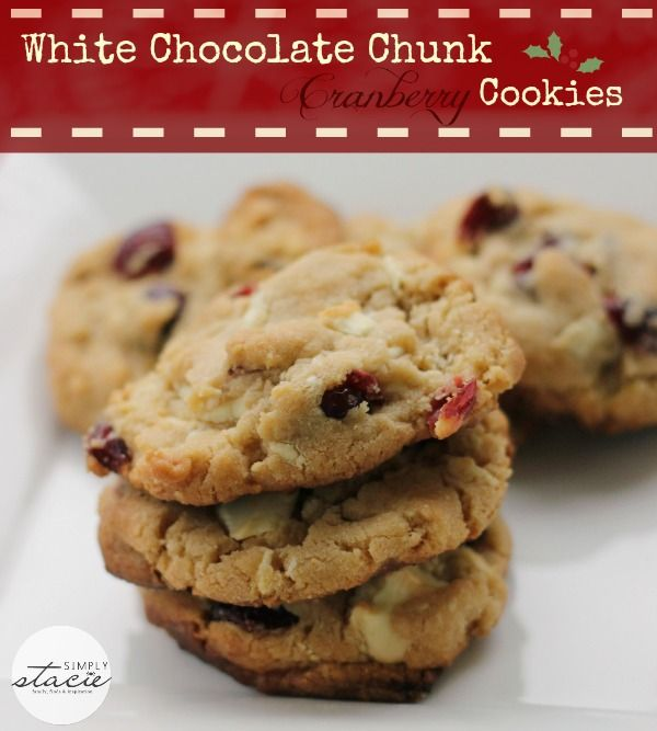 White Chocolate Chunk Cranberry Cookies Recipe + $1900 in Prizes #Coo ...