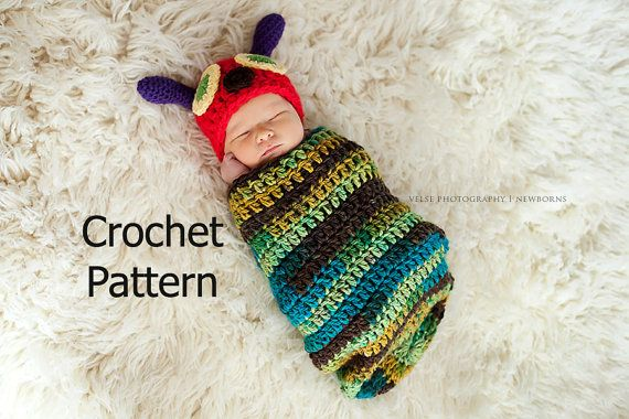 Very Hungry Caterpillar Hat and Cocoon Newborn Baby Photo ...