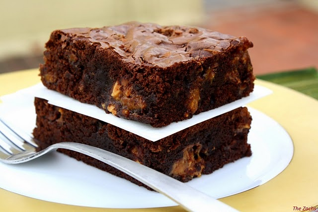 Snickers Brownie | Recipies | Pinterest