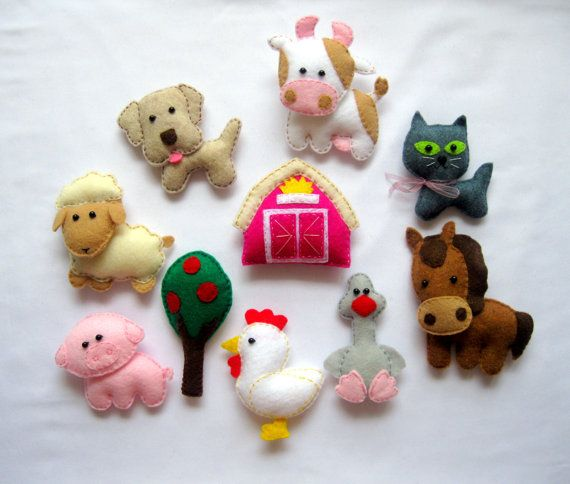 how to make simple felt animals for baby mobile