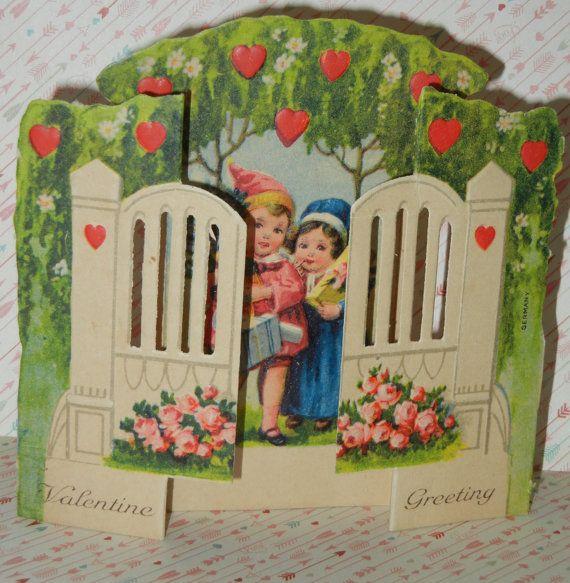 valentine cards retro
