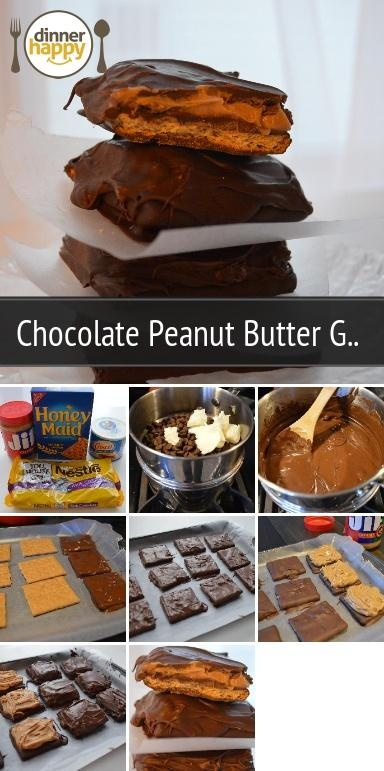 Chocolate Peanut Butter Grahams! These taste the best when chilled ...