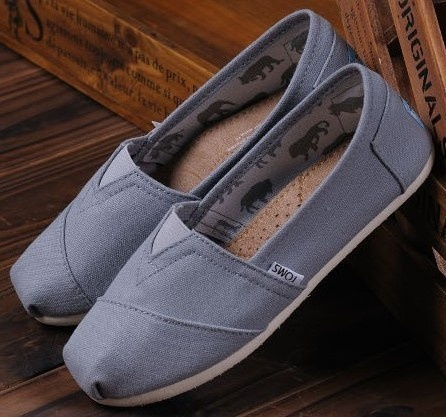 Brand New TOMS WOMEN Canvas Shoes -Grey Bought my first pair today