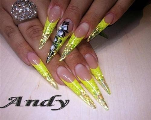 Yellow gel nails | Nails | Pinterest
