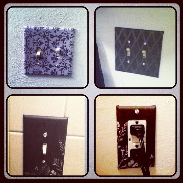 diy light switch outlet covers for the home pinterest