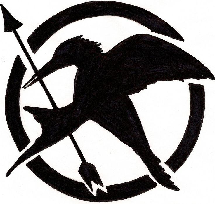 Mockingjay Logo Black And White mockingjay stencil | P...