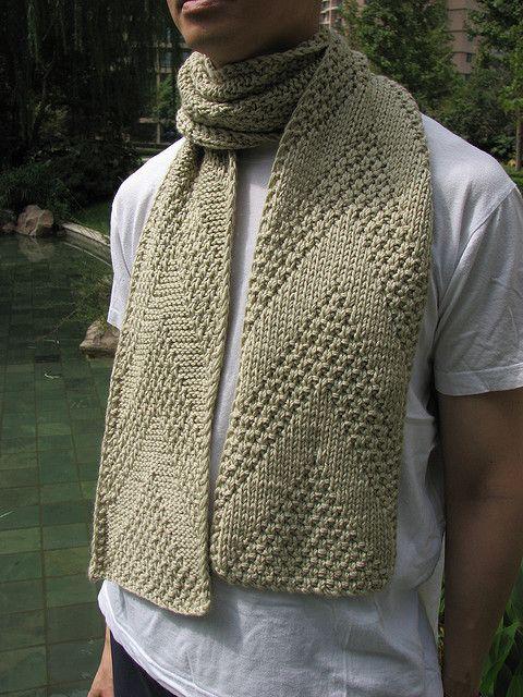 mans knit scarf - free pattern Knit - Scarfs Pinterest