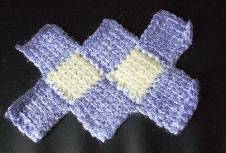 Crochet Entrelac : tunisian crochet entrelac instuctions Crochet: Entrelac Pinterest