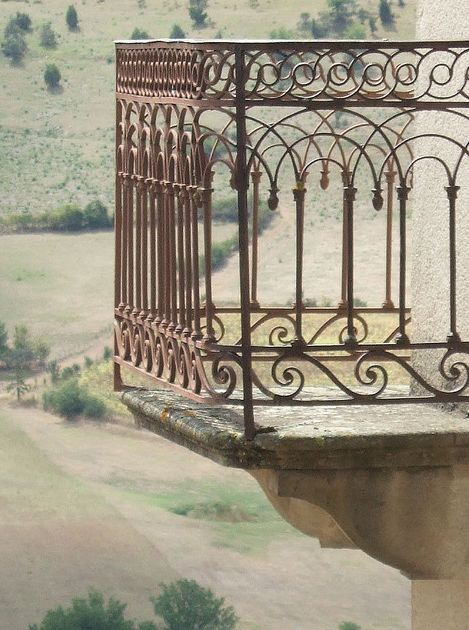 Spanish wrought iron balcony