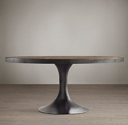 dining table restoration hardware round dining table