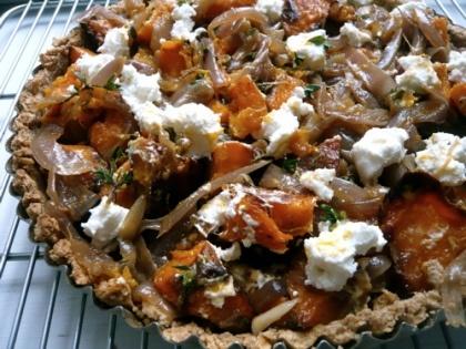 Roast Squash, Caramelized Onion and Goat Cheese Tart