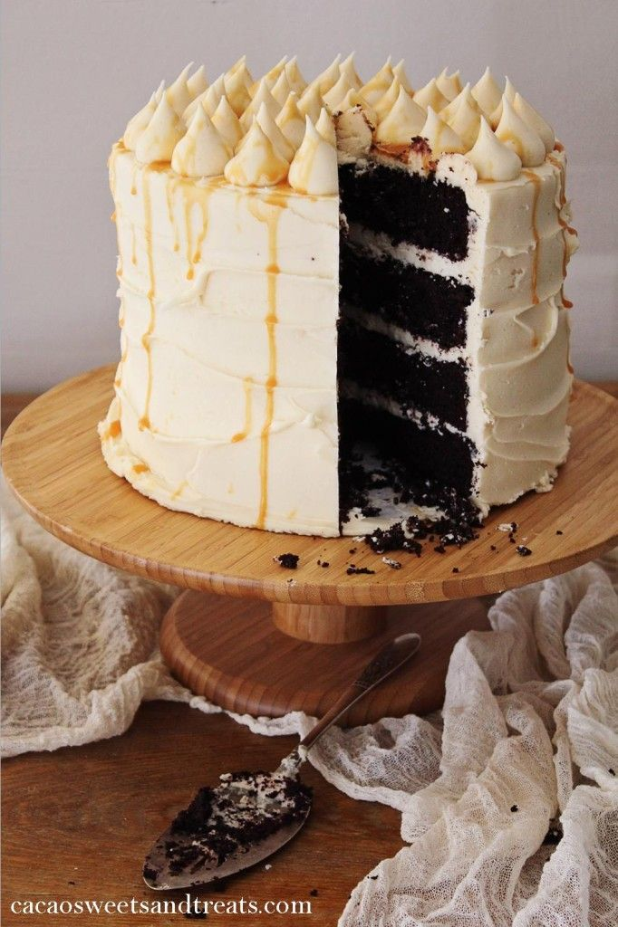 Chocolate Salted Caramel Layer Cake | Cooking With Style | Pinterest