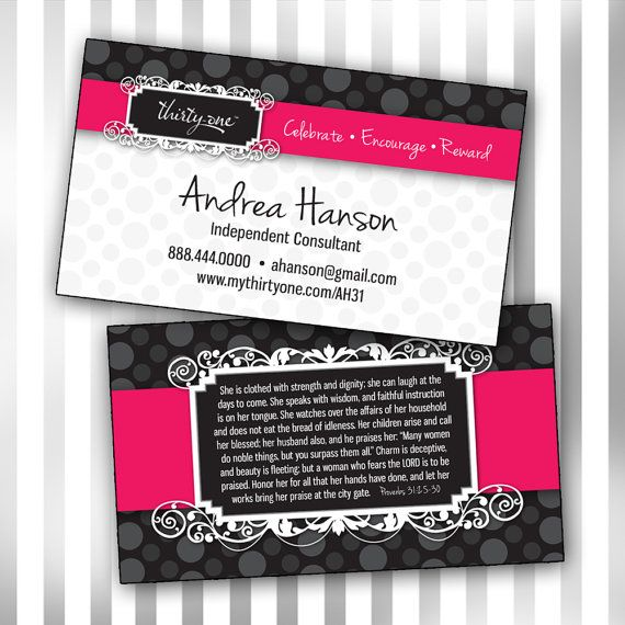 Custom Consultant Double Sided Business Card Template