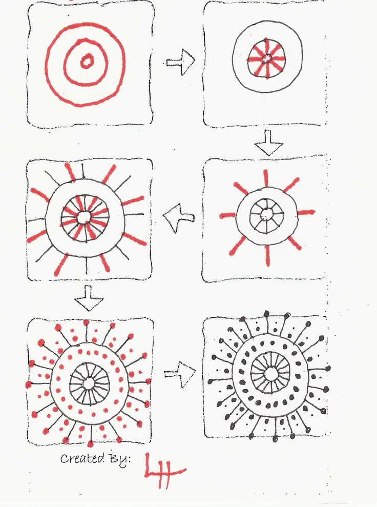 how to zentangle instructions
