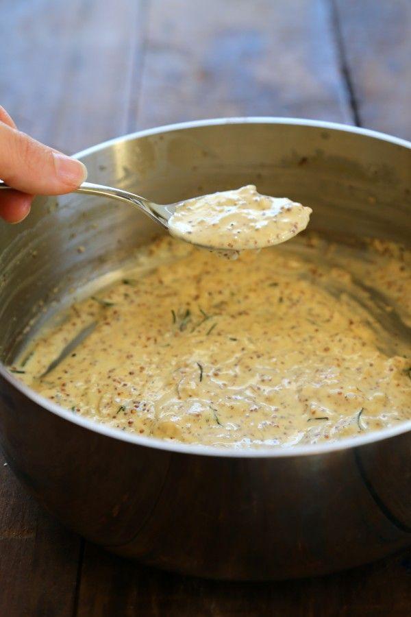 ... bacon & whole grain mustard cream sauce www.climbinggriermountain.com