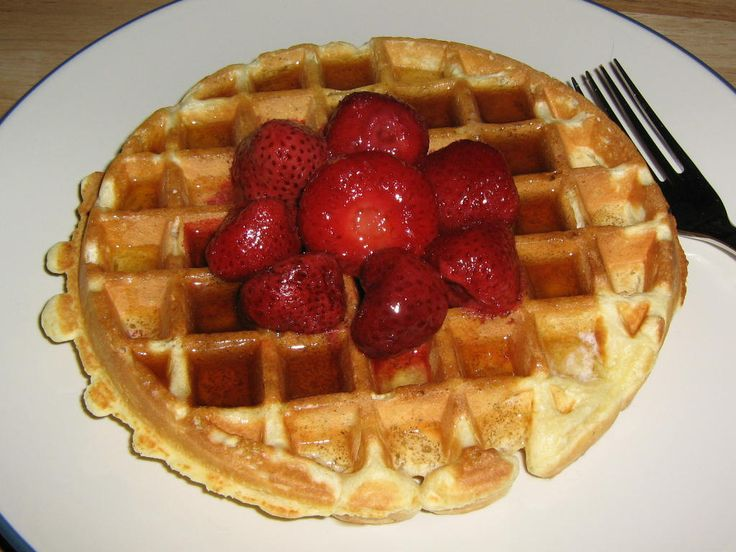 Waffles with beaten egg whites | Delicioso! | Pinterest