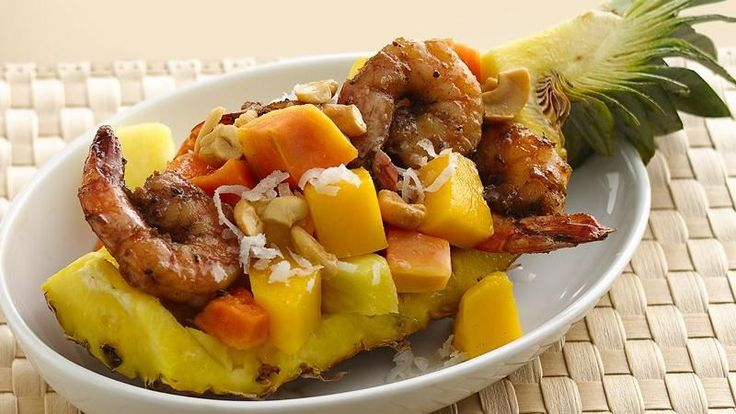 Grilled Shrimp with Tropical Fruit Salad | Recipe