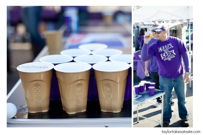 No red Solo Cups here. Only the purple and gold!