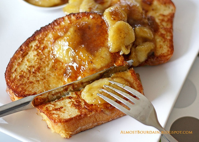 Brioche french toast with Maple-Banana Sauce - a delicious, rich ...