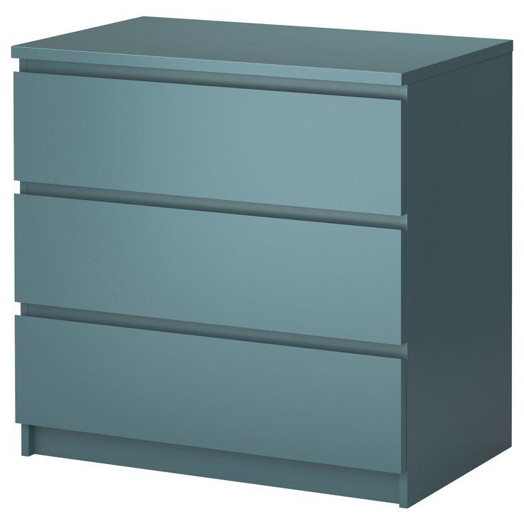 malm 3 drawer chest ikea bedroom pinterest. Black Bedroom Furniture Sets. Home Design Ideas