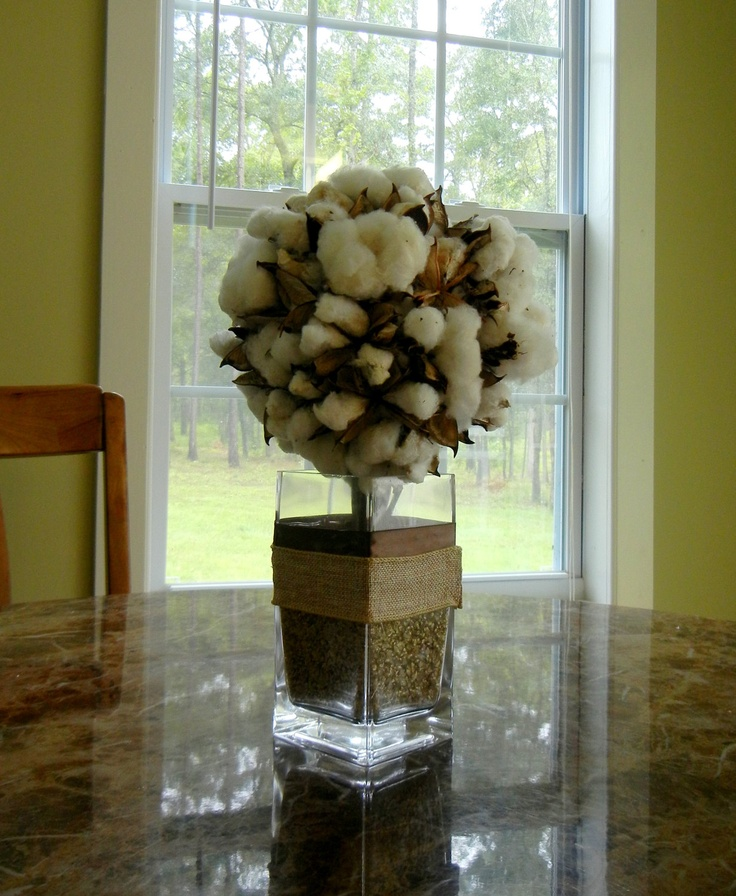 "Cotton Centerpiece--Idea for ""Cotton Country Cooking"" Table"