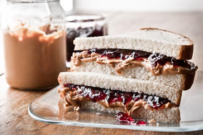 If this doesn't make you nostalgic, I don't know what will. Peanut Butter and Jelly Sandwich, of the messy delicious kind!