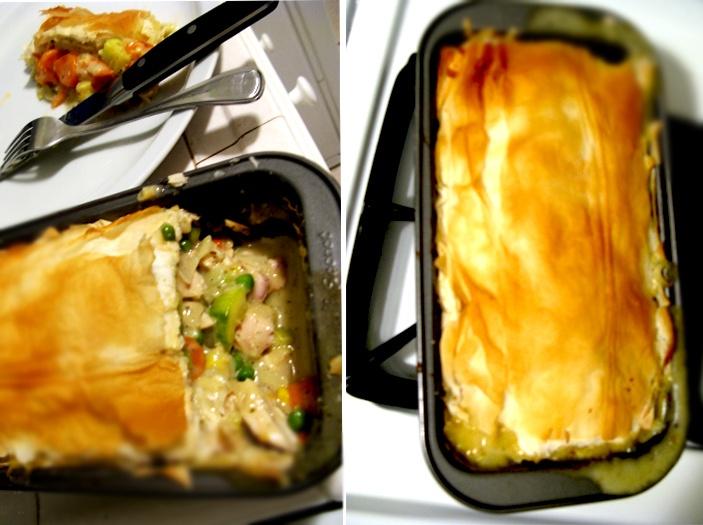 lighter chicken pot pie | Chicken dishes | Pinterest