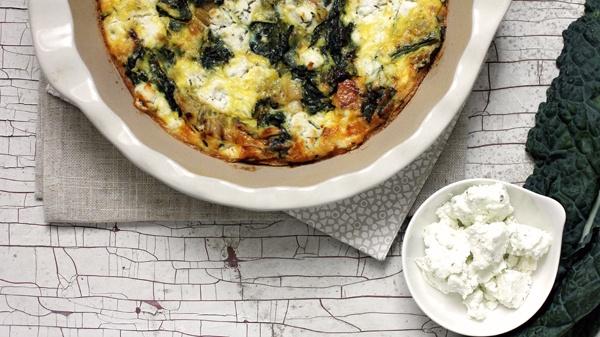 Gojee - Crustless Leek and Kale Quiche | Kale | Pinterest