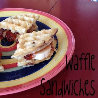 Easy Peasy kid treat (waffle sandwiches: frozen waffles, PB&J, bananas ...