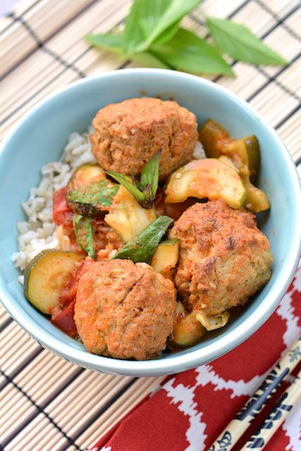 Slow Cooker Red Curry with Turkey Meatballs - for the spice lovers ...