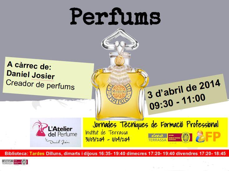 Conferència sobre els perfums a càrrec de Daniel Josier