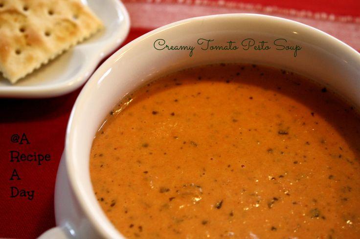 Creamy Tomato Pesto Soup | ! Soup - tomato | Pinterest