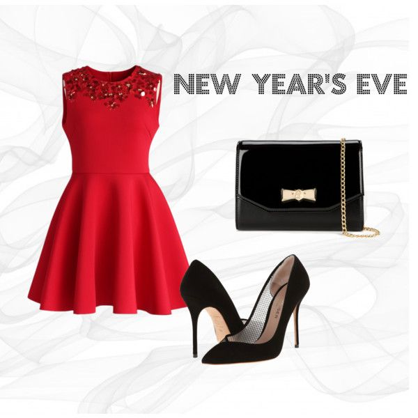 """New Year's Eve - RED"" by carolina-domingos on Polyvore"