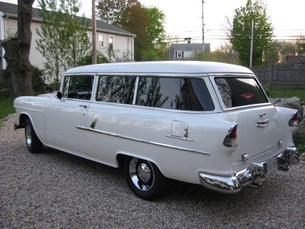 55 chevy 2 door wagon chevrolet pinterest for 1955 chevy 2 door wagon for sale