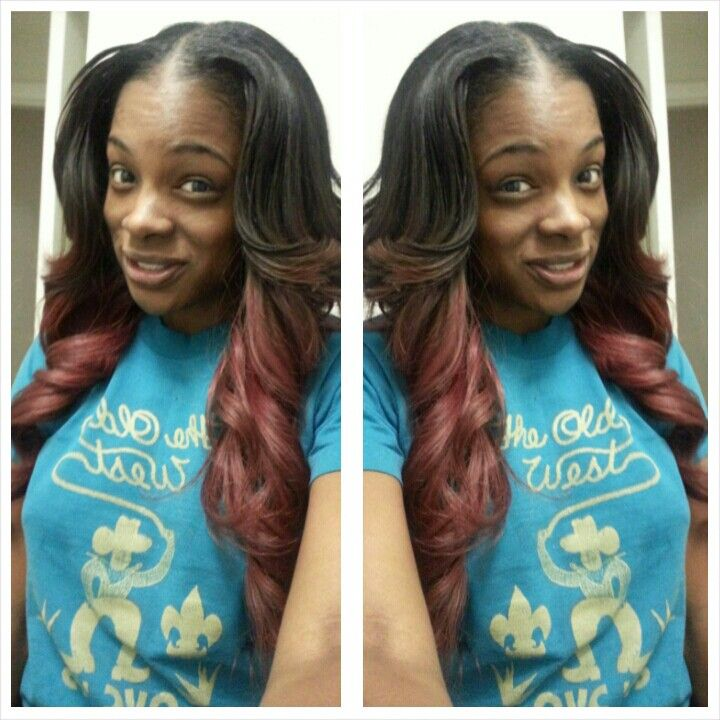 Curls. Ombre. Sew in. Long hair. Layers. | Hair | Pinterest