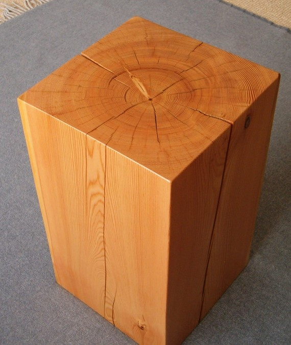 Wood block side table for the home pinterest