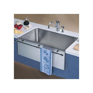 Large Apron Sink : Blanco Magnum Large Single Bowl Kitchen Sink with Apron and Towel Bar